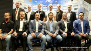 EBEL Saisonstart Pressekonferenz EBEL Head Coaches ©Puckfans.at/Andreas Robanser