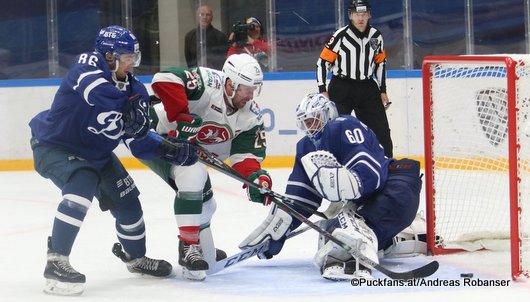 Dynamo Moskau - Ak Bars Kazan Yegor Zaitsev #86, Danis Zaripov #25, Ivan Bocharov #60 Megasport Arena ©Puckfans.at/Andreas Robanser