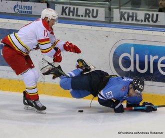 HC Slovan Bratislava - Kunlun Red Star Patrik Lamper #63, Marc-André Gragnani #17 ©Puckfans.at/Andreas Robanser