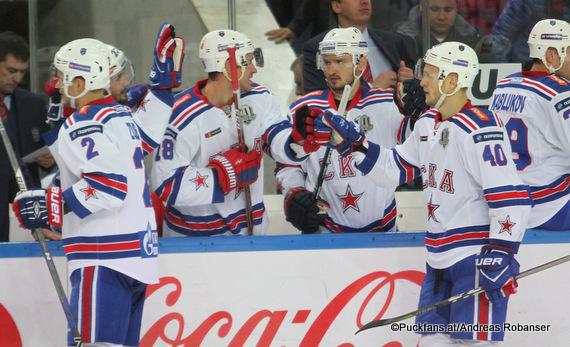 SKA Torjubel / KHL Season 2017-18 ©Puckfans.at/Andreas Robanser