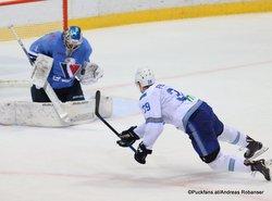 HC Slovan Bratislava - Barys Astana Marek Ciliak #1, Matt Frattin #39 ©Puckfans.at/Andreas Robanser