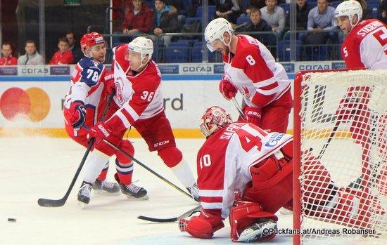 CSKA Moskau - Vityaz Podolsk Maxim Shalunov #78, Alexander Nikulin #36, Igor Saprykin #36, Ilya Shinkevich #8, CSKA Arena ©Puckfans.at/Andreas Robanser