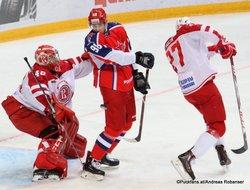 CSKA Moskau - Vityaz Podolsk Igor Saprykin #40, Maxim Mamin #98 CSKA Arena ©Puckfans.at/Andreas Robanser