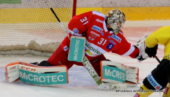Leland Irving #31. HCB Foxes ©Puckfans.at/Andreas Robanser