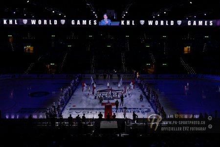 Intro Show. 26.11.2018. KHL World Games 2018. Dinamo Riga - SKA Saint Petersburg. Switzerland, Oerlikon/Zuerich, Hallenstadion. Hockeyfans.ch Official/Philipp Hegglin - www.ph-sportphoto.ch