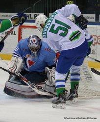 HC Slovan Bratislava - Salavat Yulaev Jakub Stepanek #30, Yegor Dubrovsky #51 ©Puckfans.at/Andreas Robanser