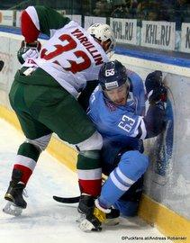 HC Slovan Bratislava - Ak Bars Kaza, Albert Yarullin #33, Patrik Lamper #63 ©Puckfans.at/Andreas Robanser