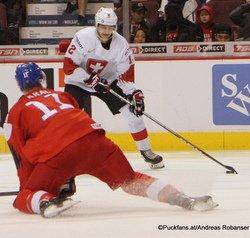 IIHF World Juniors CZE - SUI Filip Král #11, Jeremi Gerber #12 Rogers Place, Vancouver ©hockeyfans.ch/Andreas Robanser