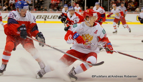 IIHF World Juniors CZE - RUS Dalimil Mikyska #22, Vitali Kravtsov  #14 Rogers Place, Vancouver  ©Puckfans.at/Andreas Robanser