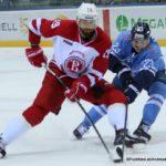 HC Slovan Bratislava - Vityaz Podolsk Nikita Komarov #19. Adam Liska #23 ©Puckfans.at/Andreas Robanser